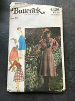 Vintage 1970s Butterick sewing pattern 4326 wrap-around skirt, size (waist) 25