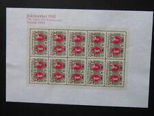 Denmark Christmas Stamp 1912 Newprint 1993 2 Edition
