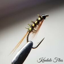 Gold Holo Diawl Bach size 14 (Set of 3) Fly Fishing Straight DB Buzzers Nymphs