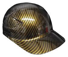 Hard Hat Bump Cap Gold Carbon Fiber w/ Free BRB Customs T-Shirt