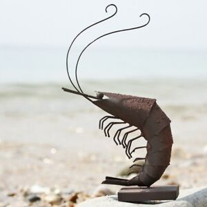Decorative Metal Prawn | Coastal Ornament by Shoeless Joe