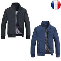 Hommes Manteau Vestes Blouson Costume Régulière Militaire Mince Automne Hiver FR