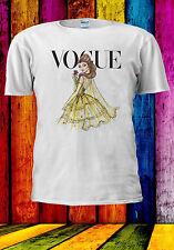 Disney Princess Belle Vogue Cover T-shirt Vest Tank Top Men Women Unisex 521