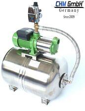 Hauswasserwerk 50L Edelstahl + 1100 W Kreiselpumpe 5 Bar + Trockenlaufschutz