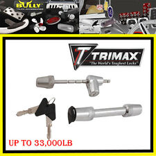 Trimax Heavy Duty Stainless Steel Universal COUPLER + Hitch Receiver Pin lock