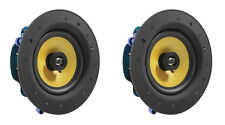 """2 Pack - TDX 6.5"""" 2-Way Ceiling Wall Home Theater Speaker Flush Mount White Pair"""