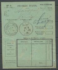 1914 Rare càd MUET + VENIZEL manuscrit, 6.11.14 sur feuille d'avis X1176