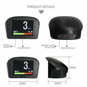 OBD2 Car Multi-function Digital Meter Alarm Speed Water Temp AUTOOL X50 Plus