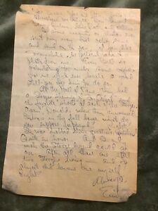 Emil Sitka handwritten and signed letter. Autographed. Three Stooges.