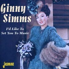 Ginny Simms - I'd Like to Set You to Music [New CD]