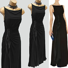 Karen Millen 8 UK Black Jersey Drape Long Maxi Dress Wedding Guest Ball Gown