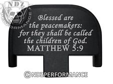 Rear Slide Plate for Smith Wesson S&W SD9 SD40 VE 9mm 40 BK Bible Psalm 5:9
