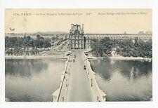Antique Paris Advertising PC Grands Magasins du Louvre CPA Pont Royal 1923