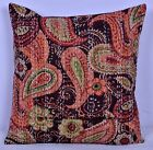 """16"""" PAISLEY KANTHA DECORATIVE THROW COUCH PILLOW CUSHION COVER Indian Bohemian"""