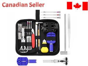 147pcs Watch Repair Tool Kit Opener Link Remover Spring Bar Hammer + Back Case