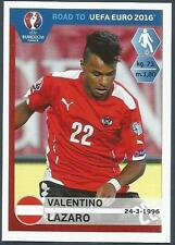 PANINI ROAD TO UEFA EURO 2016- #200-AUSTRIA-VALENTINO LAZARO