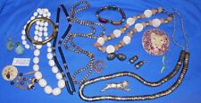 Vintage Costume Jewelry: Ethnic Tribal African Lions Safari 15p Lot JG22