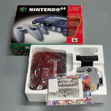 N64 Nintendo 64 System Console Complete In Box Cleaned  Tested Working! NUS-001