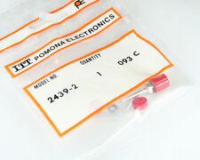 Lot of 5 POMONA 2439-2 Red Miniature Binding Post Tin Plating