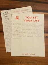 Unique 1950s GROUCHO MARX You Bet Your Life KNBH Channel 4 Hollywood Letterhead