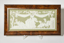 A Wedgwood Sage Green Jasper Ware Plaque ' Selene Visiting Endymion' Ltd Edition