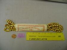 "Christmas Garland Mercury Glass Gold 7' Long 5/16"" Ridged Bead #510 Pkg #2 Vinta"