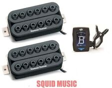 Seymour Duncan Invader Neck & Bridge 6 String Set Black SH-8 (FREE GUITAR TUNER)