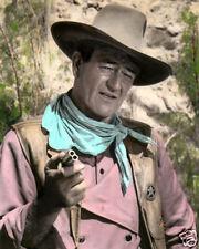 "JOHN WAYNE COMMANCHEROS 1961 MOVIE STAR 8x10"" HAND COLOR TINTED PHOTOGRAPH"