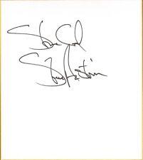 Stone Cold Steve Austin Signed Shikishi Japanese Art Board Bas Coa Wwe Autograph