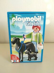 PLAYMOBIL 5210 FIGURE with DOGS 2011 GEOBRA  NEW!!!