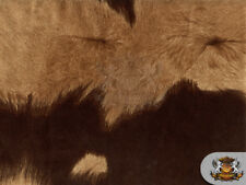 "Suede Velvet BIG Cow print fabric Upholstery BROWN / 54"" Wide / Sold By The Yard"
