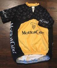 Attack cycling bike jersey XL Mouton Cadet Yellow & Black Bicycle Shirt Nice