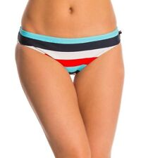 NEW Tommy Hilfiger Swimwear Slide Stripe Bikini Bottom Navy Multi XS XSmall