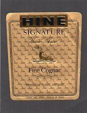 COGNAC VIEILLE ETIQUETTE FINE COGNAC HINE SIGNATURE     §05/02/17§