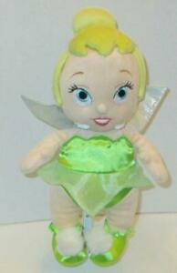 "DISNEY PARKS BABIES TINKERBELL PRINCESS FAIRY 12"" PETER PAN PLUSH DOLL TOY"