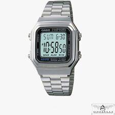 Casio: Orologio da Uomo Vintage cassa e cinturino in Acciaio Digitale A178WEA