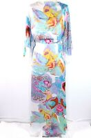 Asos Dress Womens 4 Floral Tropical Boho Chic Maxi Backless Kimono Sleeve Hawaii