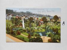 Postkarte Ansichtskarte Sachsen.Aue Sächs.Erzgebirge (Carola-Anlagen mit Bismarc