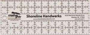 Creative Grids Shoreline Handwerks Custom Quilting Ruler 2.5 x 6.5 inches
