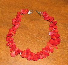 "Erica Zap Designer 17"" Necklace - Red Coral?"