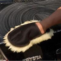 Wonderful Super Soft Lambswool Car Wash Mitt Deep Pile Cleaning Glove Wash TR