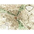MAP PLAN DE PARIS FRANCE NEW FINE ART PRINT POSTER PICTURE 30x40 CMS CC3835