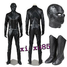 The Flash Season Black Zoom Villain Flash Cosplay Costume with Mask and Boots