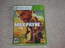 MAX PAYNE 3...XBOX 360...***ORIGINAL LABEL***SEALED***BRAND NEW***!!!!!