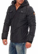 Jack Jones Mens Black/Navy Jacket Short Parka Style  Size M Medium New £40