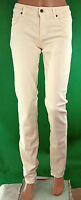 Jeans Donna Pantaloni MET Made in Italy C652 Gamba Dritta Beige Chiaro Tg 24 25
