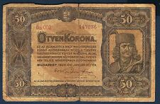 HONGRIE - 50 KORONA Pick n° 62 du 1er janvier 1920 en TB  5a.002 147036