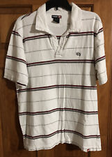 New listing Tony Hawk Clothing White Collared Striped Shirt Men's Size L