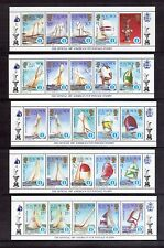 SOLOMON ISLANDS 1987 America Cup ten min different sheets MUH