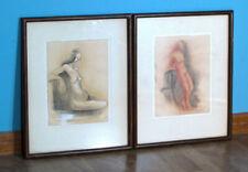 Wall Art Framed Paintings Artwork Nude Figure Lois Marie Orr Mid Century Art
